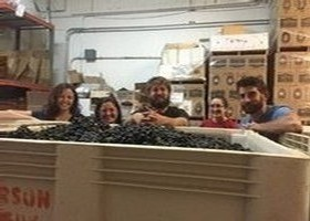 A group photo of the Peterson Winery team members