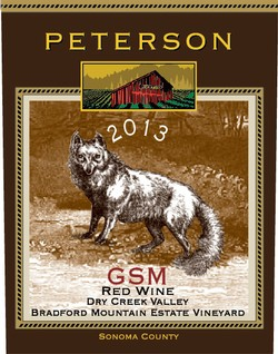 GSM Blend 2013, Bradford Mountain Estate Vineyard Image