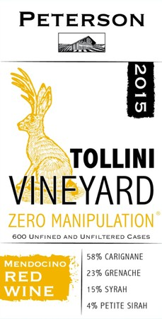 Zero Manipulation 2015, Tollini Vineyard, 3L Bag-in-Box