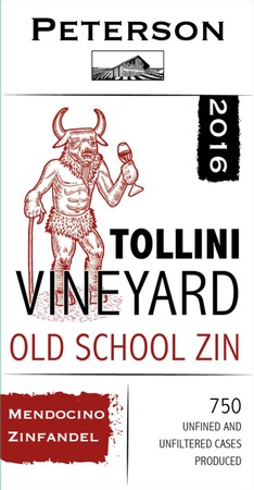 Zinfandel 2016, Old School, Tollini Vineyard