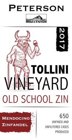 Zinfandel 2018, Old School, Tollini Vineyard, 3L Bag-in-Box