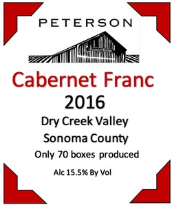 Cabernet Franc 2016, Dry Creek Valley, 3L Bag-in-Box