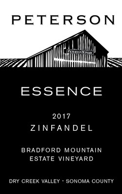 Zinfandel 2017, Essence Dessert Wine 375ml Bradford Mountain Estate Vineyard
