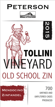 Zinfandel 2015, Old School, Tollini Vineyard
