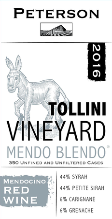Mendo Blendo 2016, Tollini Vineyard