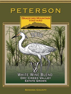 3V White Blend 2016, Bradford Mountain Estate Vineyard Image