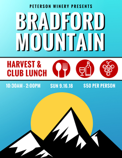 Bradford Mt. Estate Harvest Club Lunch