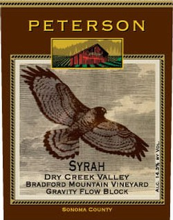 Syrah 2007, Bradford Mountain Estate Vineyard